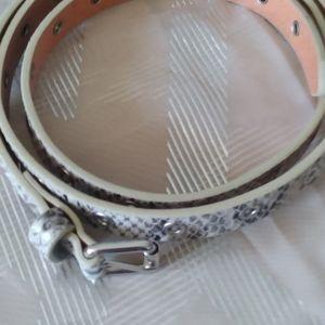Faux snakeskin belt.